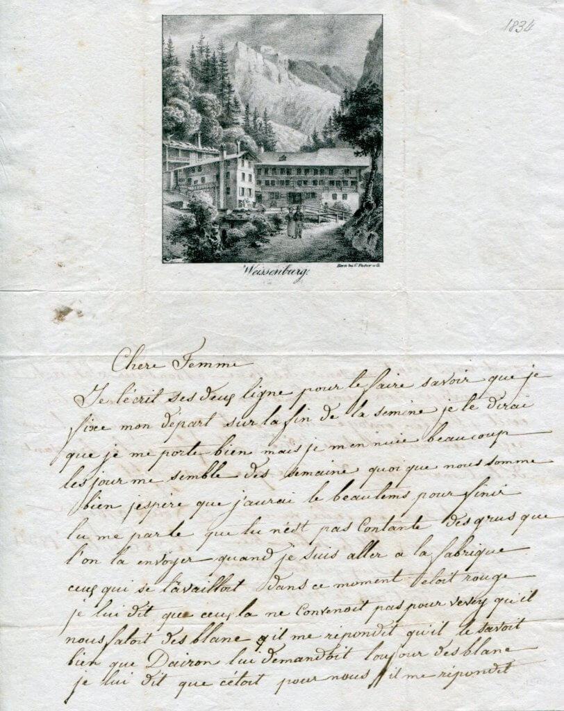 28.7.1834 – Kompl. Brief v. Bern => Vevey – Stich von Weissenburg im Simmental