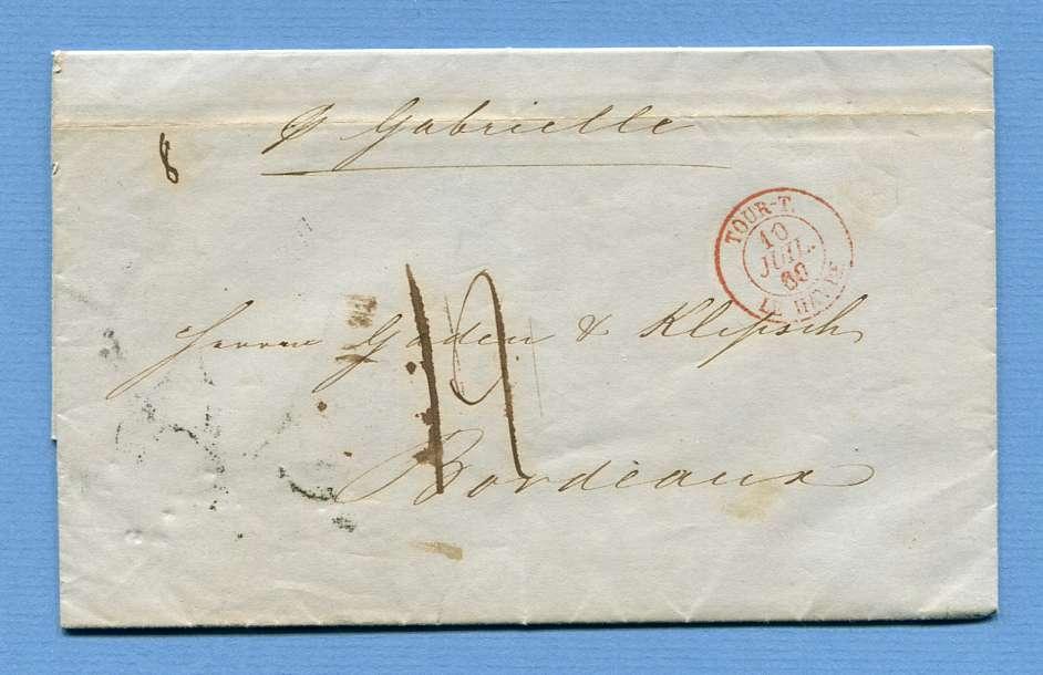 5.7.1860 – Hamburg => Le Havre => Bordeaux (Frankreich) – Schiffsmakler