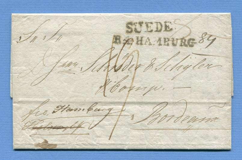 9.5.1818 – Christiania (Norwegen) => Hamburg => Bordeaux (Frankreich) – (L1) SUEDE