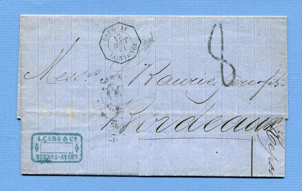 13.8.1861 – Buenos Ayres (Argentinien) => Uruguay => Bordeaux (Frankreich)