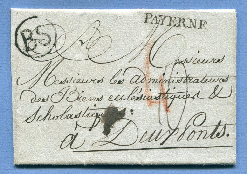 21.10.1805 – BF. THIERRENS / PAYERNE => BASEL => DEUX PONTS / ZWEIBRÜCKEN / BAYERN / PFALZ
