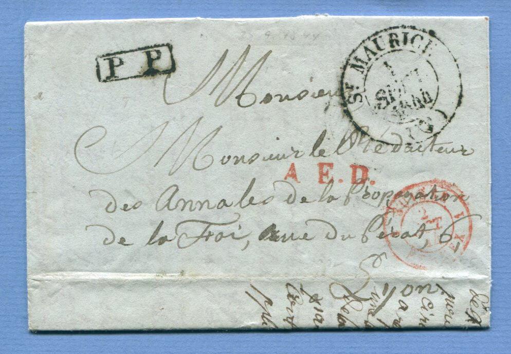 1.9.1844 – (K2) ST. MAURICE => Ferney => Lyon (Frankreich)
